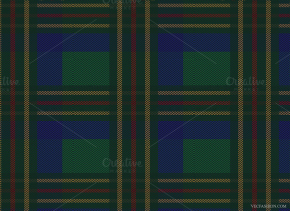 Scottish Tartan Seamless Vector Patt