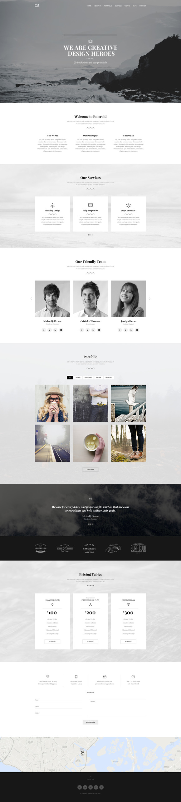 Emerald Creative Cleane Onepage