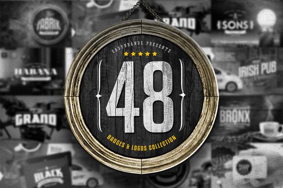 48 Badges Logos Bundle