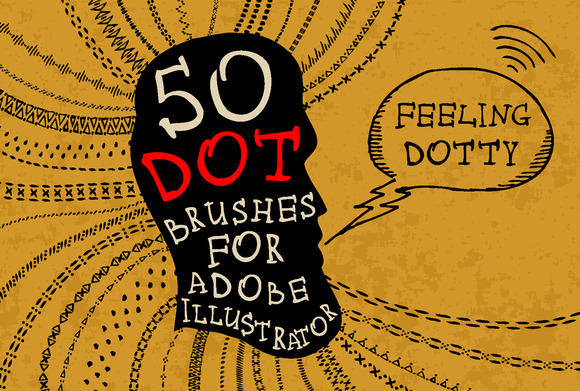 50 Dot Brushes For Adobe Illustrator