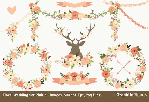 Floral Wedding Set Pink