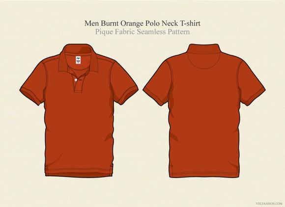 Men Burnt Orange Polo Shirt