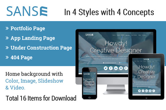 Sanse Multipurpose HTML Template