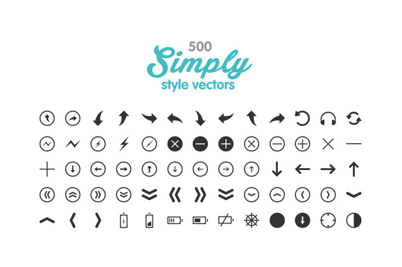 500 Simply Vector Icons