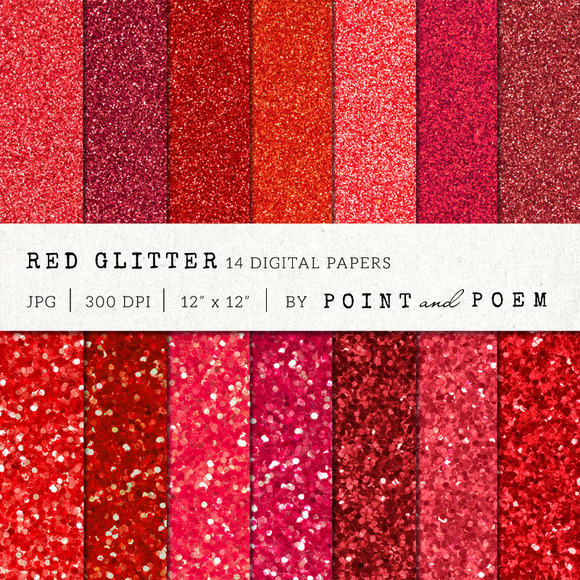Red Glitter Texture Pack