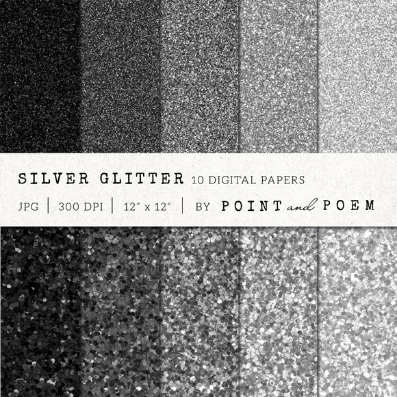 Silver Black Glitter Texture Pack