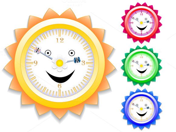 Watches For Kids Vector Illustration