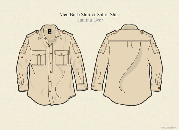 Men Bush Shirt Or Safari Shirt
