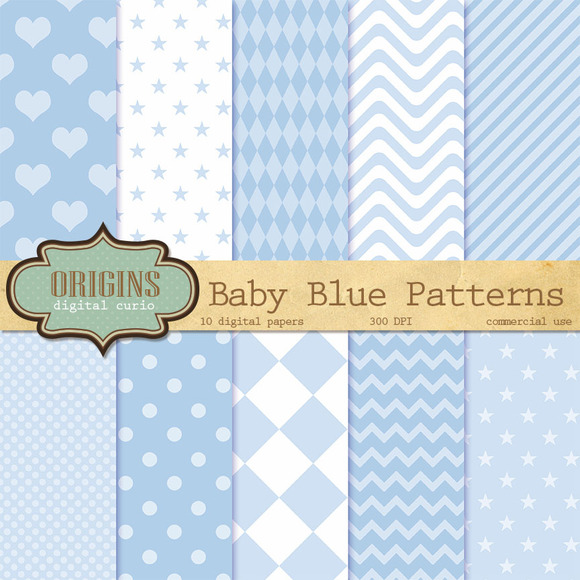 Baby Blue Digital Paper