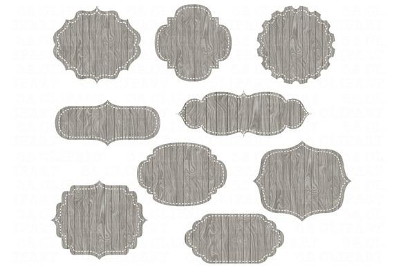 18 Wood Digital Frames Set