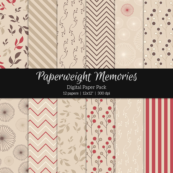 Patterned Paper Raspberry Kiss