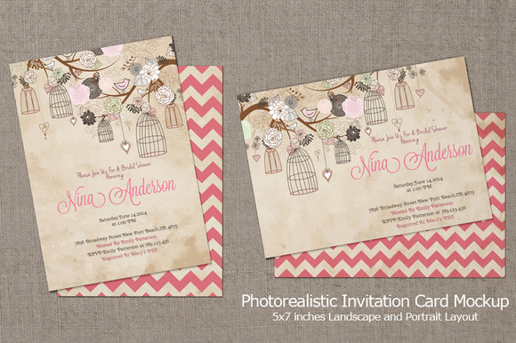 Invitation Card Mockup V3