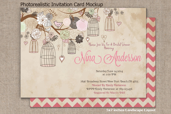 Invitation Card Mockup V2