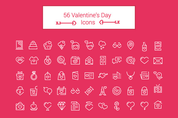 56 Valentine S Day Icons