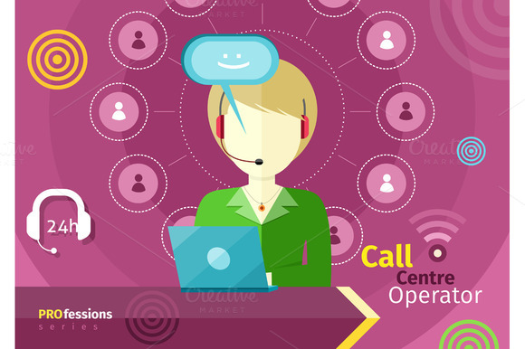 Female Call Centre Operator With