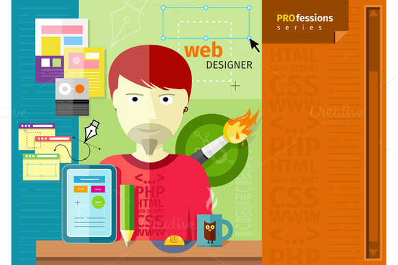 Male Web Designer With Tablet