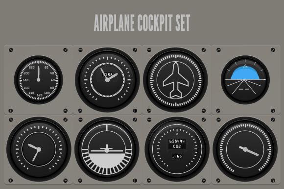 Airplane Cockpit Illustration
