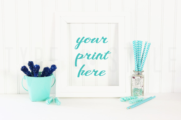 Styled Stock Photo Blue Candy