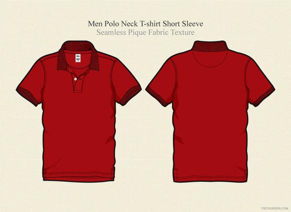 Men Polo Neck Shirt Vector Template