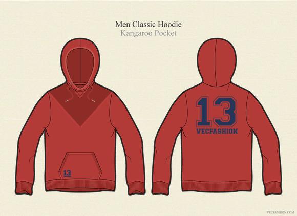 Men Classic Hoodie Pullover