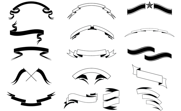Banners And Ribbons Vector Set