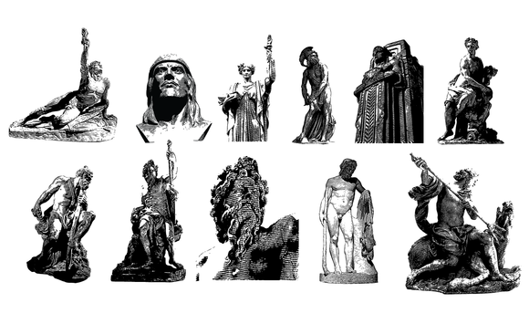 Statues Vector Pack
