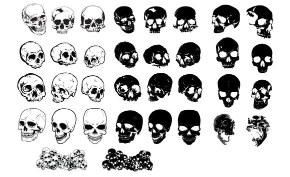 Skulls Vector Pack 2