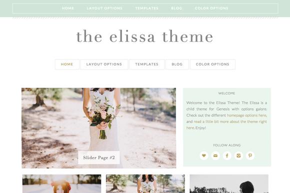Elissa Wordpress Genesis Child Theme