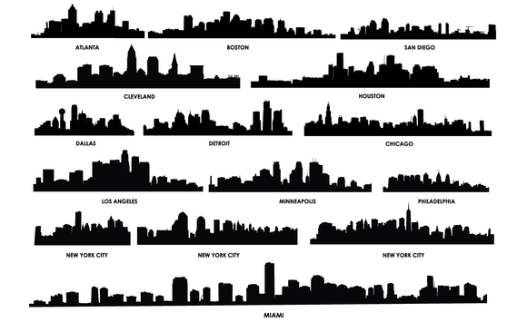 City Skylines Vector Pack