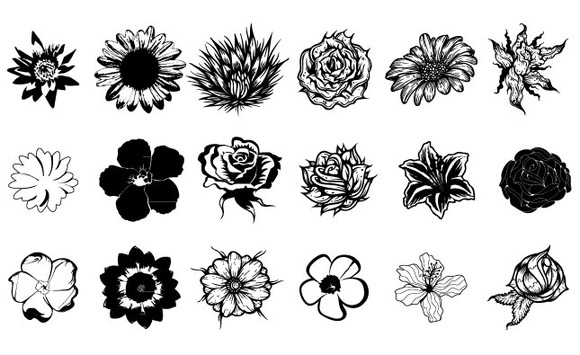 Flowers Vector Pack