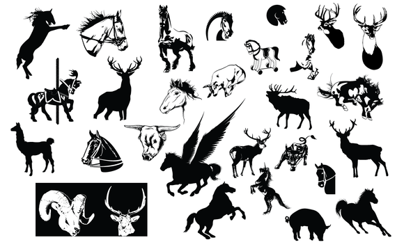 Horse And Hoof Vector Pack