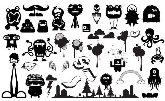 Cute Monster Vector Pack