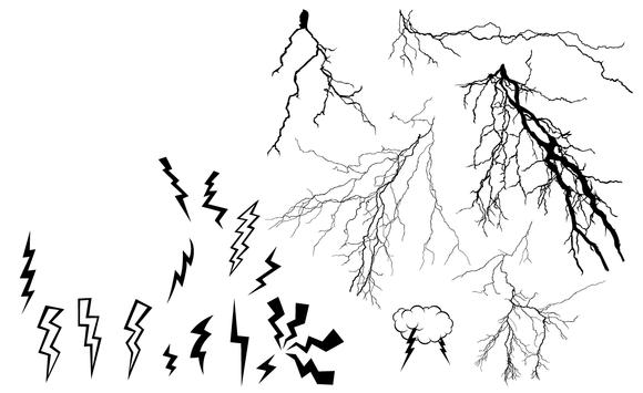 Lightning Bolt Vector Pack