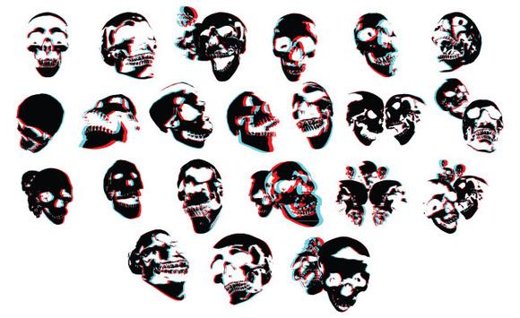 3D Skulls Vector Pack