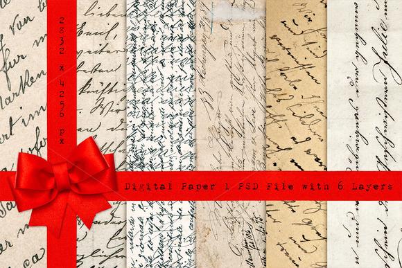 Handwritten Scripts Paper Texture