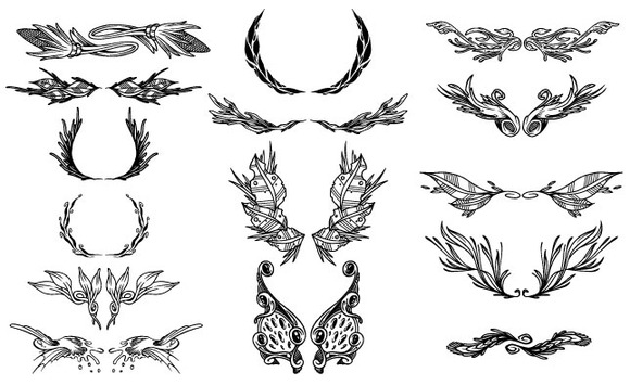 Ornate Ornaments Vector Pack 2