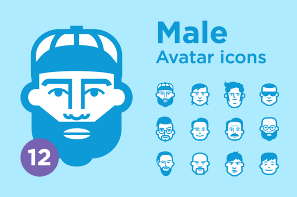 JimiЎЇs Avatar Icons Male Set