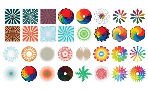 Color Radials Vector Pack