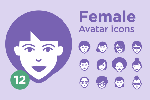 JimiЎЇs Avatar Icons Female Set