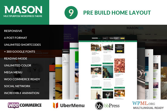Mason Ultimate Masonry WP Theme