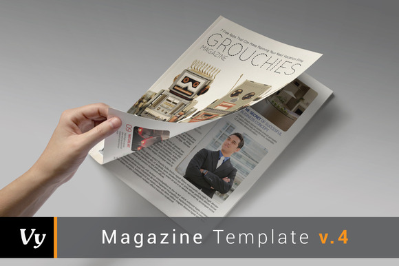 Grouchies Magazine Template