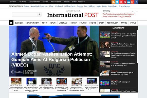 InternationalPost Newspaper Theme