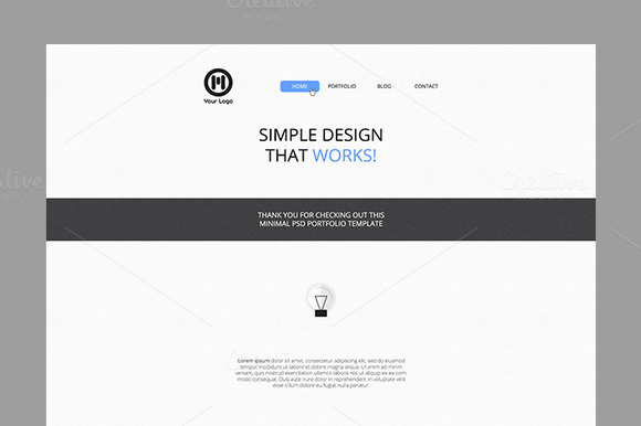 Clean PSD Website Template