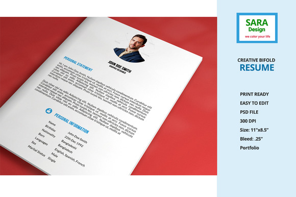 Creative Bifold Resume
