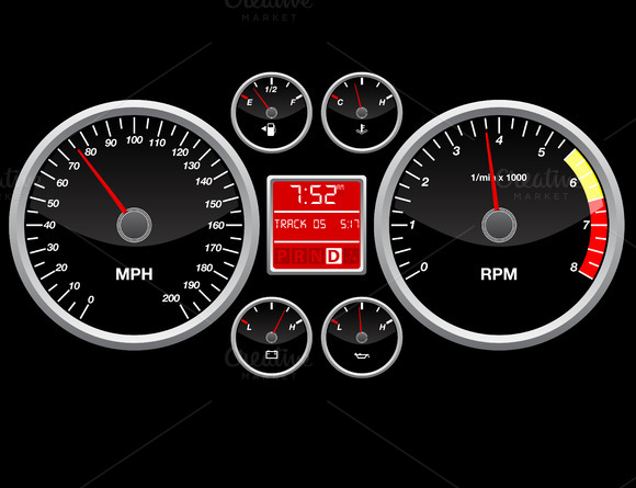 Speed Indicator Vector Illustration