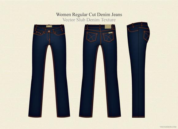 Women Regular Cut Denim Jeans