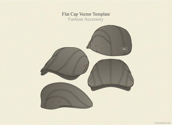 Flat Cap Vector Fashion Accessory
