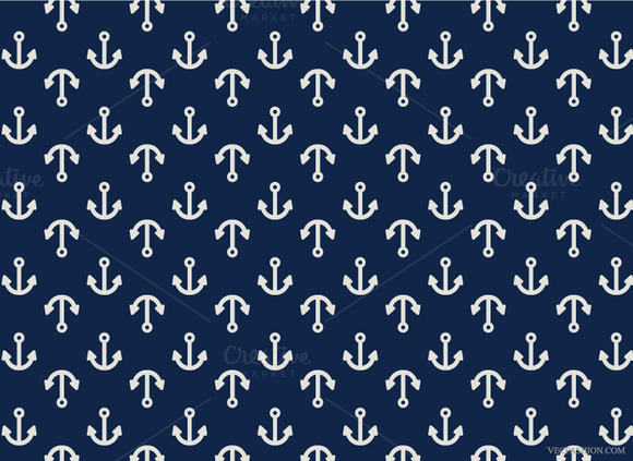 Big Anchor Seamless Pattern