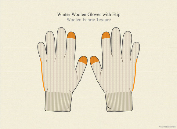 Winter Woolen Gloves With Etip