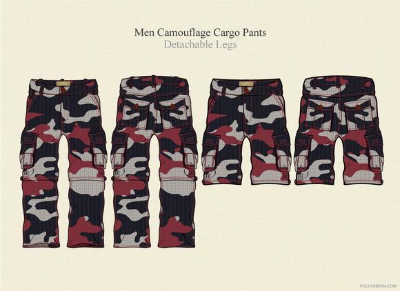 Men Camouflage Cargo Pants